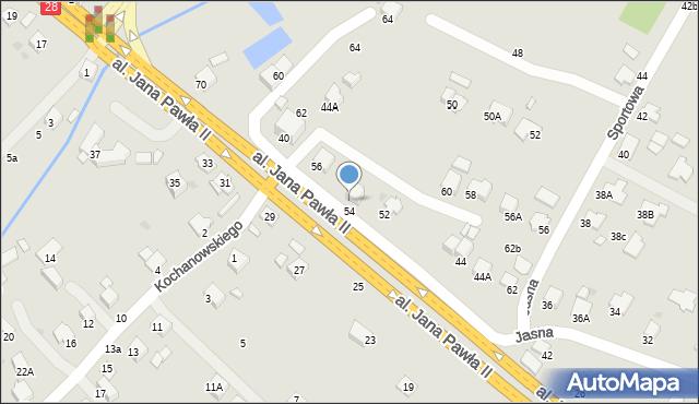 Krosno, Jasna, 54, mapa Krosna