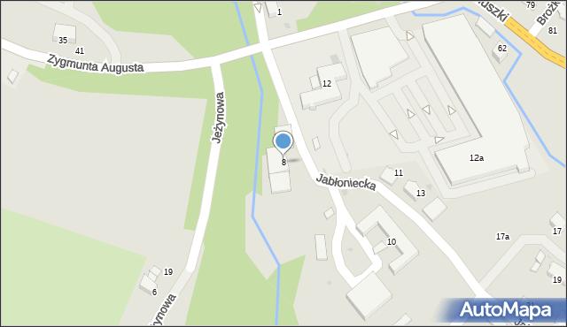 Limanowa, Jabłoniecka, 8, mapa Limanowa