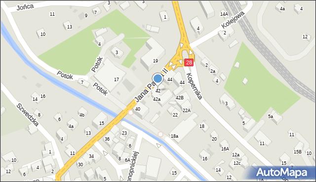 Limanowa, Jana Pawła II, 42, mapa Limanowa