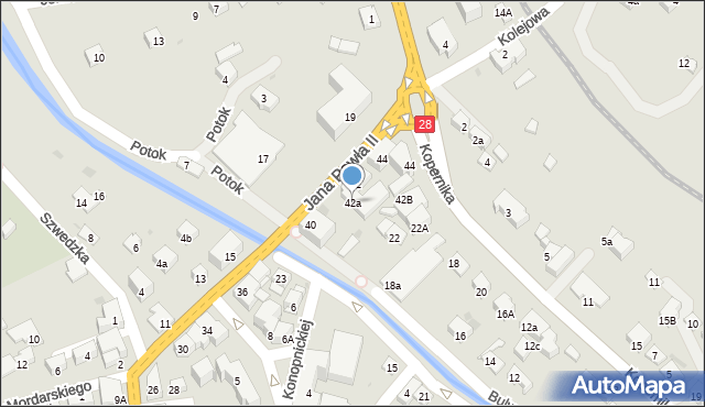 Limanowa, Jana Pawła II, 42a, mapa Limanowa