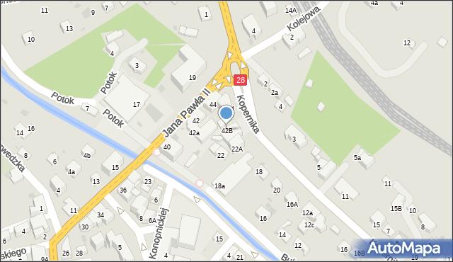 Limanowa, Jana Pawła II, 42B, mapa Limanowa