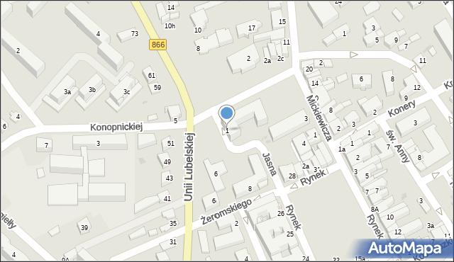Lubaczów, Jasna, 1, mapa Lubaczów