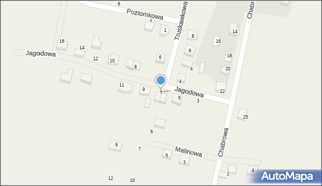 Luzino, Jagodowa, 7, mapa Luzino