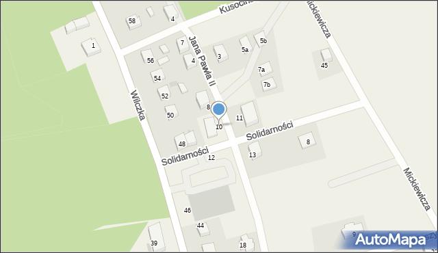 Luzino, Jana Pawła II, 10, mapa Luzino