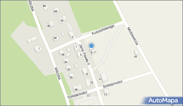 Luzino, Jana Pawła II, 3, mapa Luzino