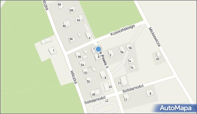 Luzino, Jana Pawła II, 4, mapa Luzino