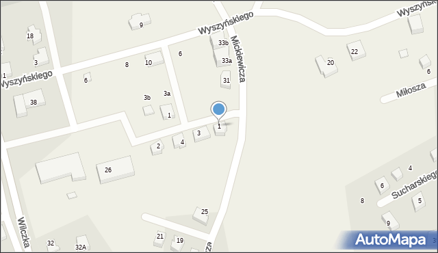Luzino, Jastaka, ks., 1, mapa Luzino