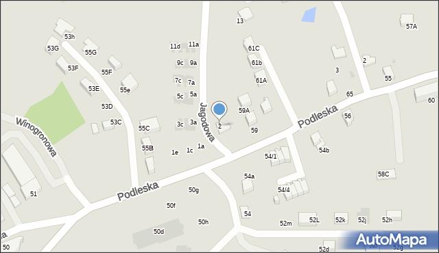 Mikołów, Jagodowa, 2, mapa Mikołów