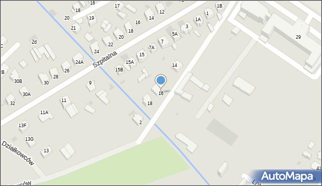 Myszków, Jaśminowa, 16, mapa Myszków