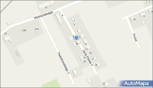 Nowa Wieś Ełcka, Jana Pawła II, 10, mapa Nowa Wieś Ełcka