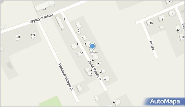 Nowa Wieś Ełcka, Jana Pawła II, 11, mapa Nowa Wieś Ełcka