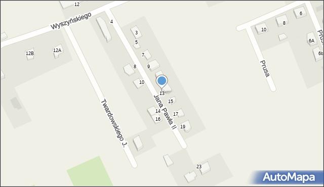 Nowa Wieś Ełcka, Jana Pawła II, 13, mapa Nowa Wieś Ełcka