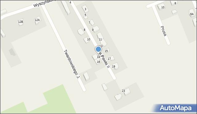 Nowa Wieś Ełcka, Jana Pawła II, 14, mapa Nowa Wieś Ełcka