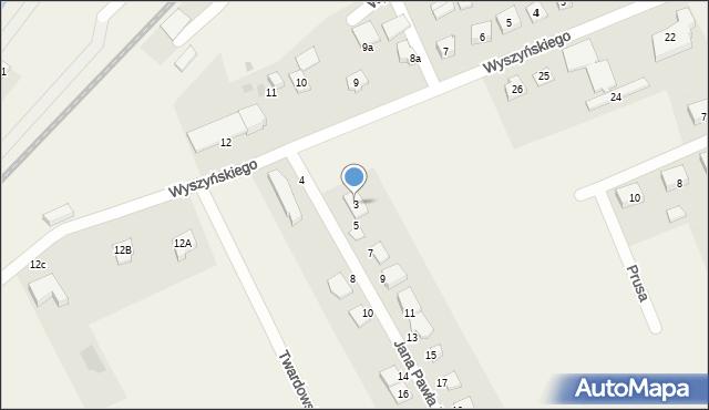 Nowa Wieś Ełcka, Jana Pawła II, 3, mapa Nowa Wieś Ełcka