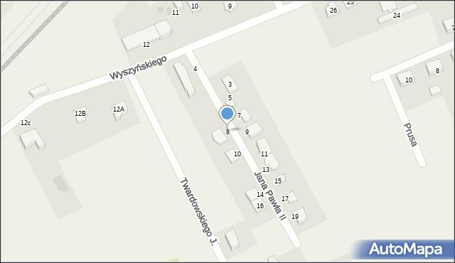 Nowa Wieś Ełcka, Jana Pawła II, 8, mapa Nowa Wieś Ełcka