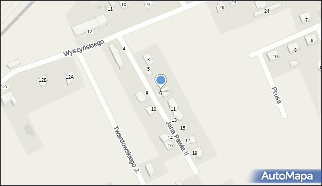 Nowa Wieś Ełcka, Jana Pawła II, 9, mapa Nowa Wieś Ełcka