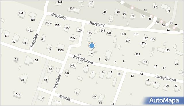 Pokrówka, Jarzębinowa, 1, mapa Pokrówka