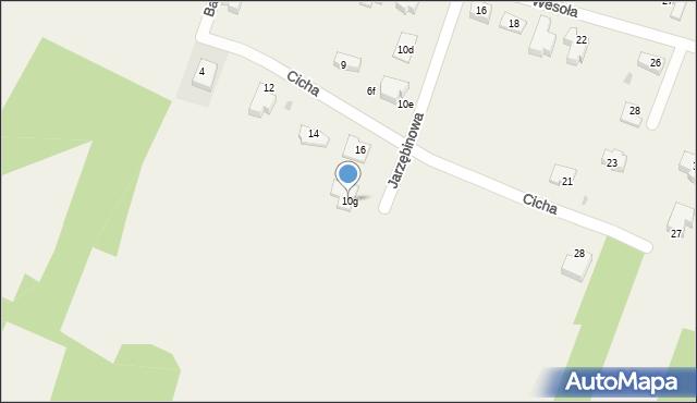 Pokrówka, Jarzębinowa, 10g, mapa Pokrówka
