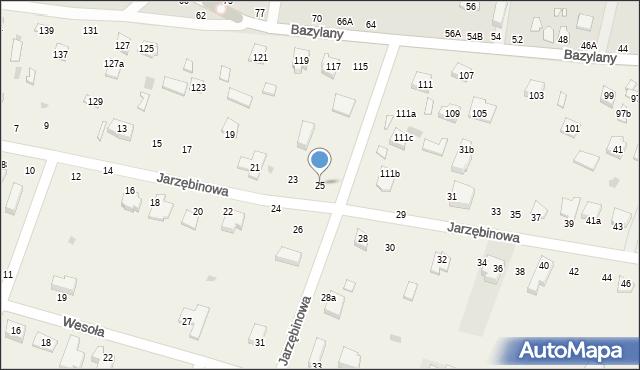 Pokrówka, Jarzębinowa, 25, mapa Pokrówka
