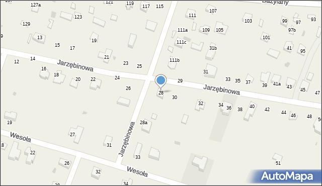 Pokrówka, Jarzębinowa, 28, mapa Pokrówka