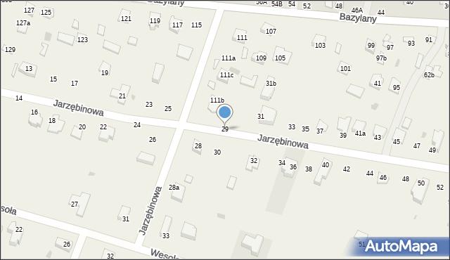 Pokrówka, Jarzębinowa, 29, mapa Pokrówka