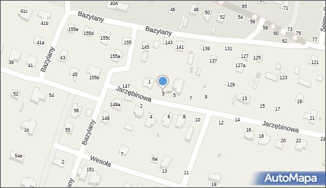 Pokrówka, Jarzębinowa, 3, mapa Pokrówka
