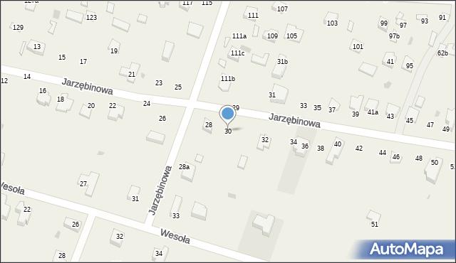 Pokrówka, Jarzębinowa, 30, mapa Pokrówka