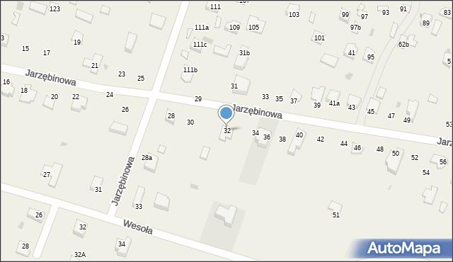 Pokrówka, Jarzębinowa, 32, mapa Pokrówka