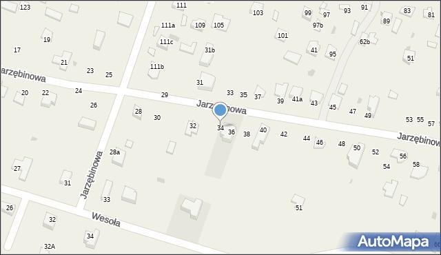 Pokrówka, Jarzębinowa, 34, mapa Pokrówka
