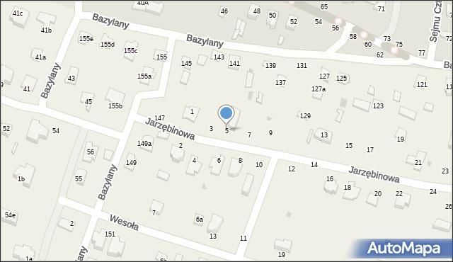 Pokrówka, Jarzębinowa, 5, mapa Pokrówka