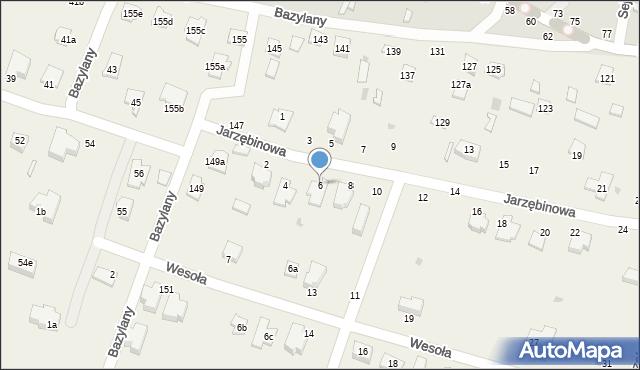 Pokrówka, Jarzębinowa, 6, mapa Pokrówka
