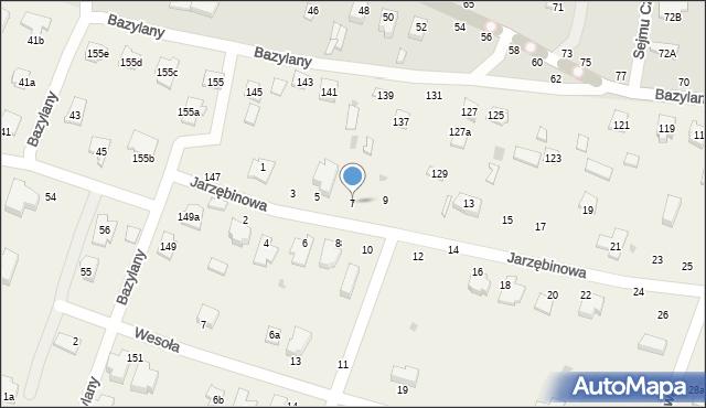 Pokrówka, Jarzębinowa, 7, mapa Pokrówka