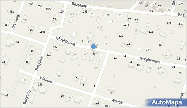 Pokrówka, Jarzębinowa, 8, mapa Pokrówka