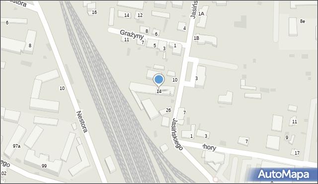 Przemyśl, Jasińskiego Jakuba, gen., 14, mapa Przemyśla