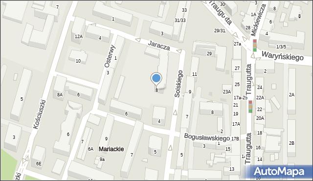 Radom, Jaracza Stefana, 8, mapa Radomia