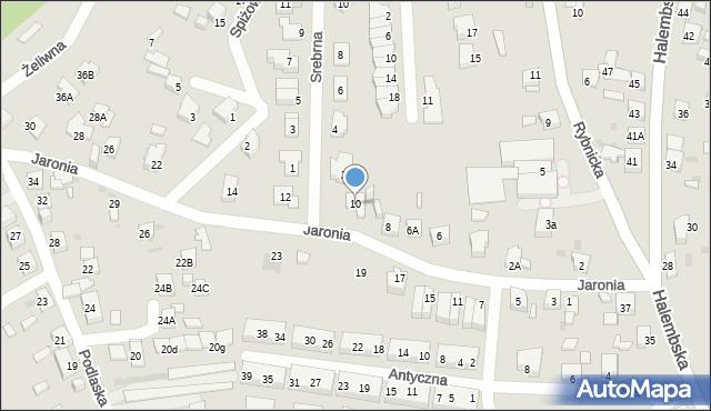 Ruda Śląska, Jaronia Nikodema, 10, mapa Rudy Śląskiej