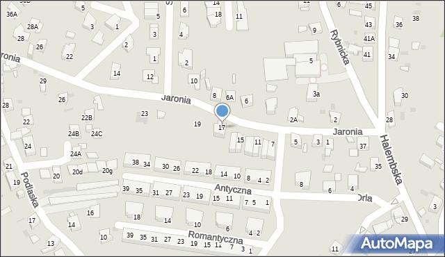 Ruda Śląska, Jaronia Nikodema, 17, mapa Rudy Śląskiej