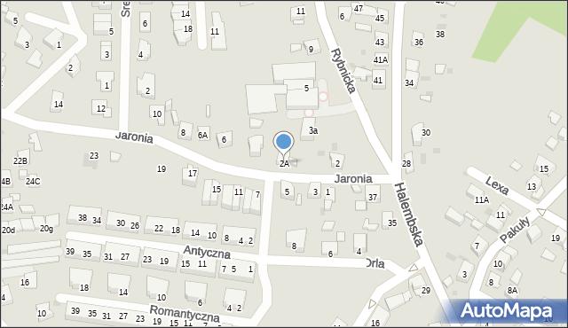 Ruda Śląska, Jaronia Nikodema, 2A, mapa Rudy Śląskiej