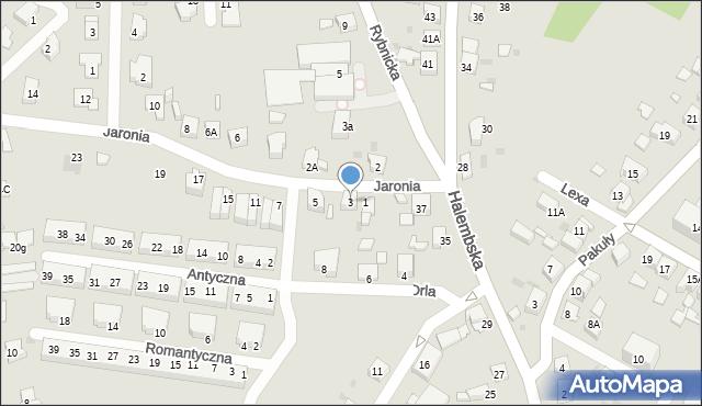Ruda Śląska, Jaronia Nikodema, 3, mapa Rudy Śląskiej