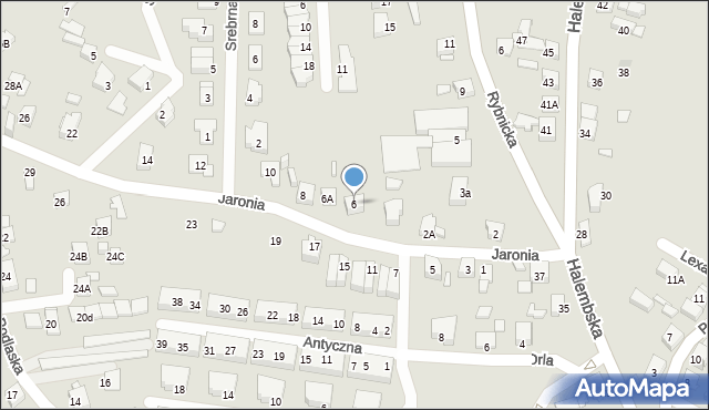 Ruda Śląska, Jaronia Nikodema, 6, mapa Rudy Śląskiej