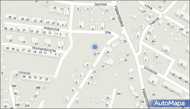Ruda Śląska, Jastrzębia, 11, mapa Rudy Śląskiej