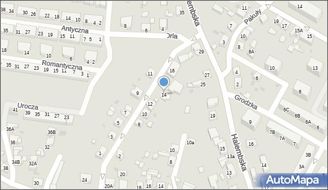 Ruda Śląska, Jastrzębia, 14, mapa Rudy Śląskiej