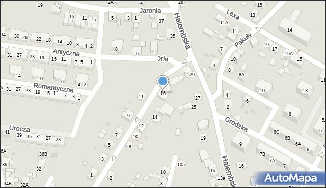 Ruda Śląska, Jastrzębia, 16, mapa Rudy Śląskiej