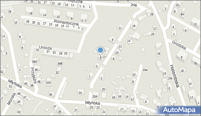 Ruda Śląska, Jastrzębia, 5, mapa Rudy Śląskiej