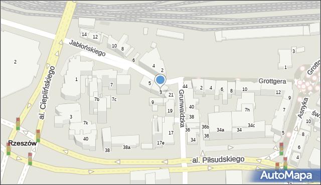 Rzeszów, Jabłońskiego Stanisława, 3, mapa Rzeszów