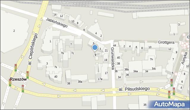Rzeszów, Jabłońskiego Stanisława, 9, mapa Rzeszów