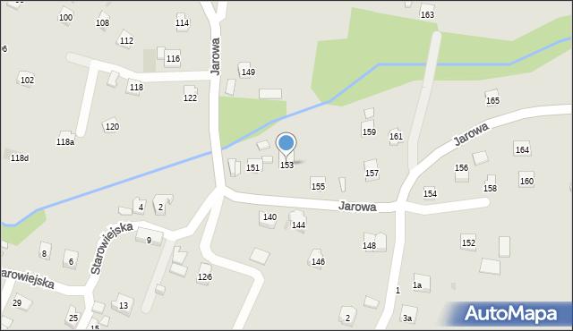 Rzeszów, Jarowa, 153, mapa Rzeszów