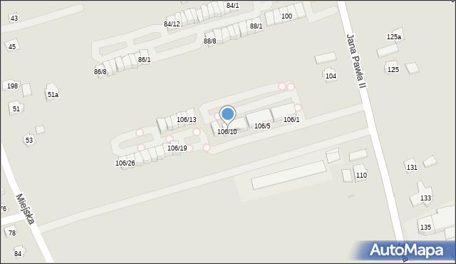 Rzeszów, Jana Pawła II, 106/10, mapa Rzeszów