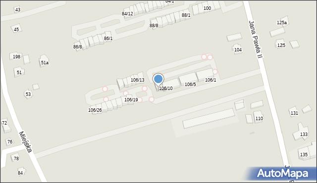 Rzeszów, Jana Pawła II, 106/12, mapa Rzeszów