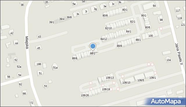 Rzeszów, Jana Pawła II, 86/1, mapa Rzeszów